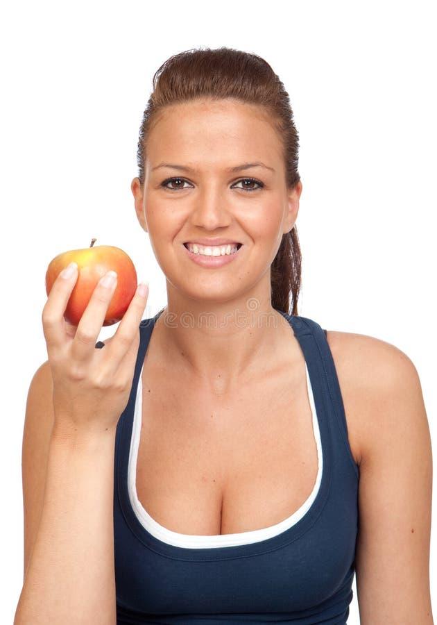 γυμναστική κοριτσιών μήλω& στοκ εικόνες