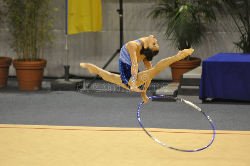 γυμναστική μαρίνα ρυθμική &Io στοκ φωτογραφίες