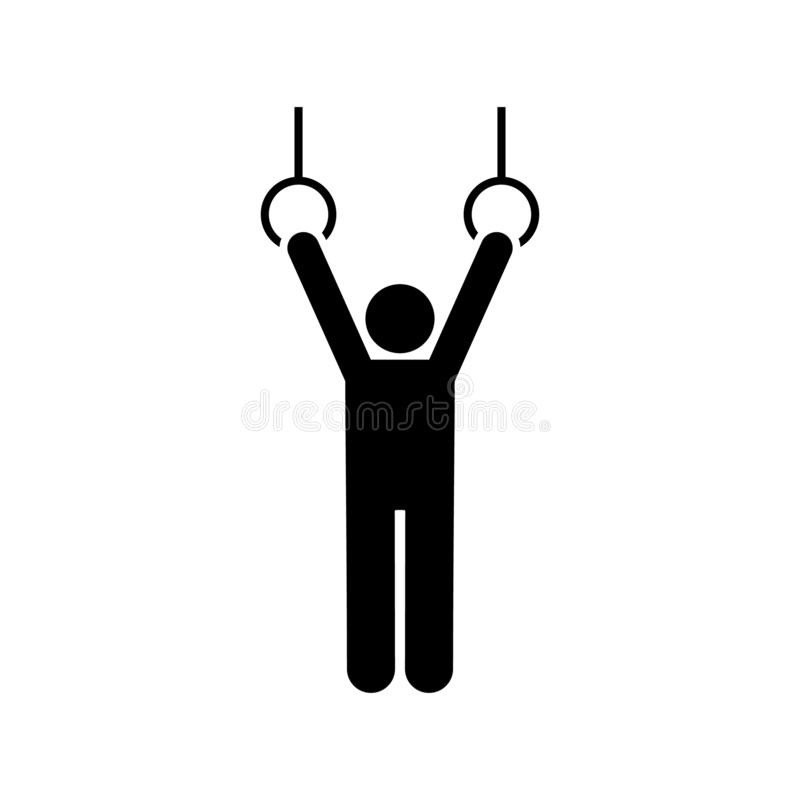 Γυμναστική, ταλάντευση, άσκηση, άτομο, εικονίδιο ικανότητας Στοιχείο του εικονογράμματος γυμναστικής r r ελεύθερη απεικόνιση δικαιώματος