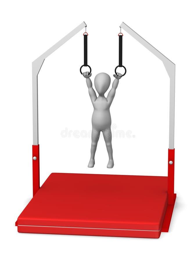 γυμναστική διανυσματική απεικόνιση