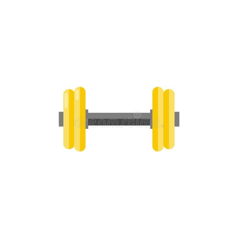 Γυμναστικός αλτήρας για την κατάρτιση που απομονώνεται στο άσπρο υπόβαθρο - αθλητικό βάρος για να κάνει workout διανυσματική απεικόνιση