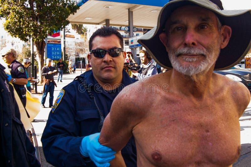 Γυμνοί διαμαρτυρόμενοι στοκ φωτογραφίες με δικαίωμα ελεύθερης χρήσης