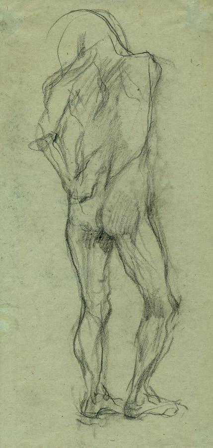 γυμνό σκίτσο 2 ατόμων απεικόνιση αποθεμάτων