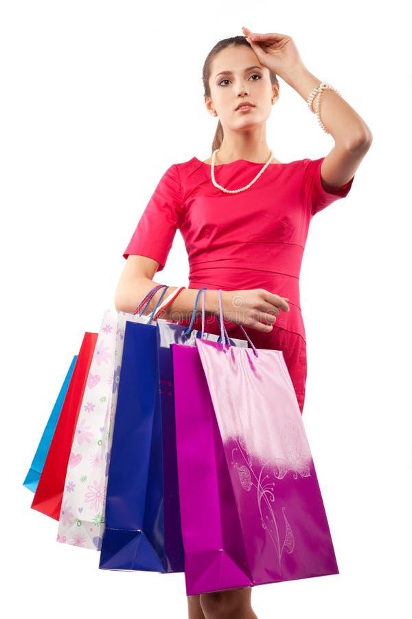 γυναίκα αγοραστών στοκ εικόνες