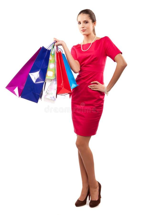 γυναίκα αγοραστών στοκ φωτογραφία με δικαίωμα ελεύθερης χρήσης