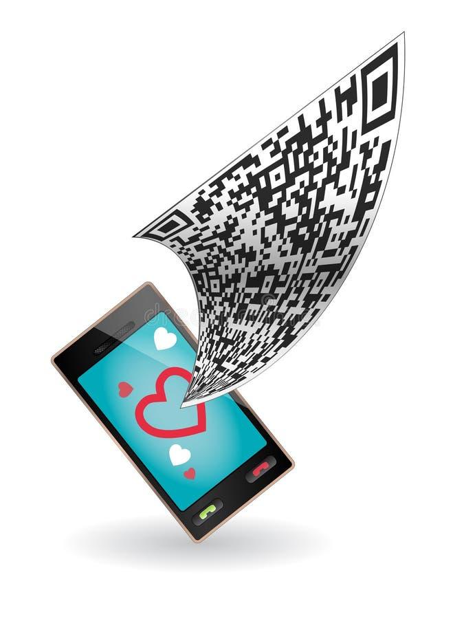 γυναίκα ανδρών εικονιδίων καρδιών κώδικα qr διανυσματική απεικόνιση