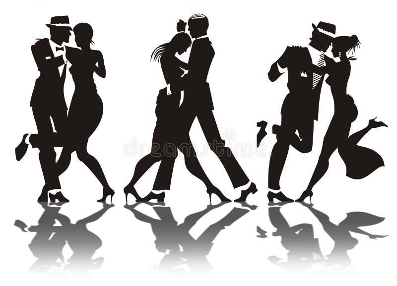 γυναίκα ανδρών χορού διανυσματική απεικόνιση