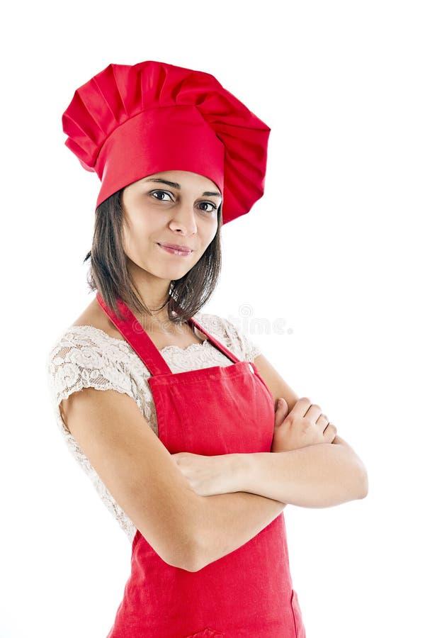 γυναίκα αρχιμαγείρων στοκ εικόνες