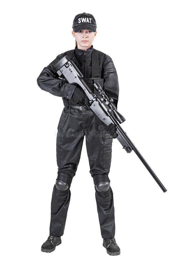 Γυναίκα αστυνομικός στοκ φωτογραφίες