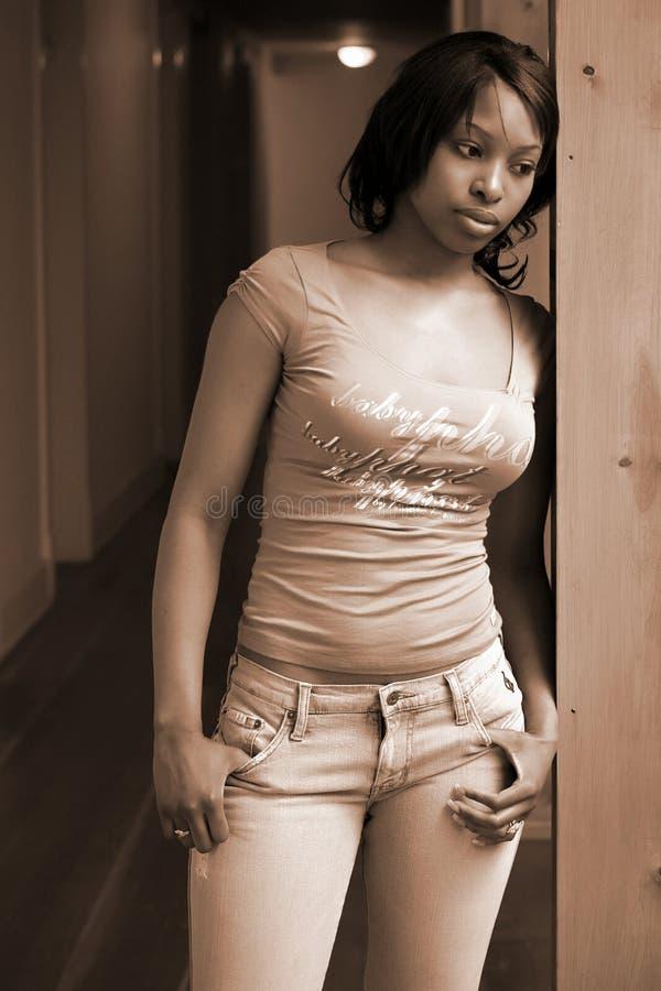 γυναίκα αφροαμερικάνων στοκ εικόνες με δικαίωμα ελεύθερης χρήσης