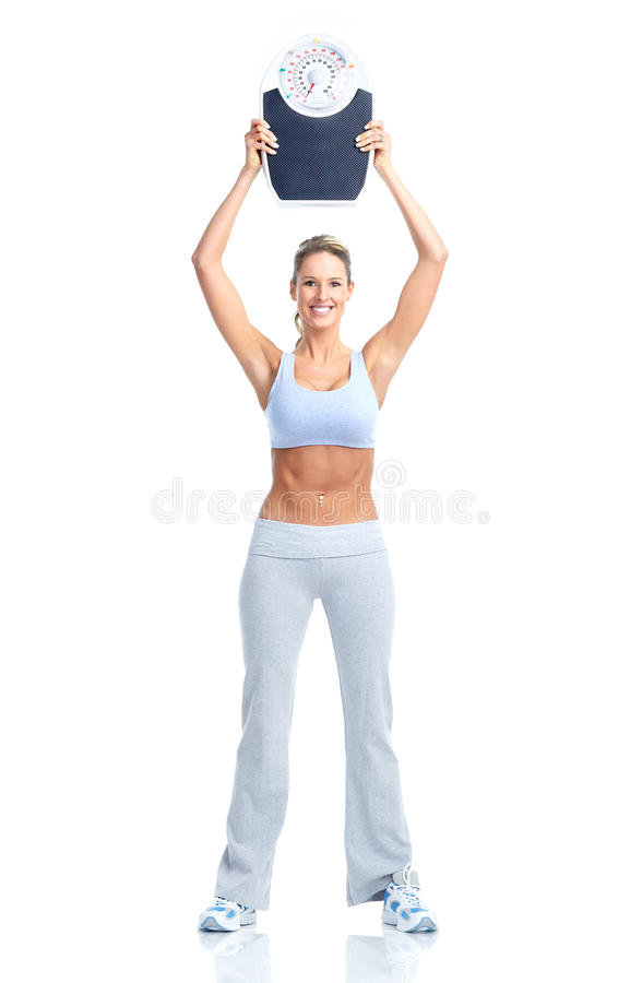 γυναίκα βάρους κλίμακα&sigmaf στοκ φωτογραφία με δικαίωμα ελεύθερης χρήσης