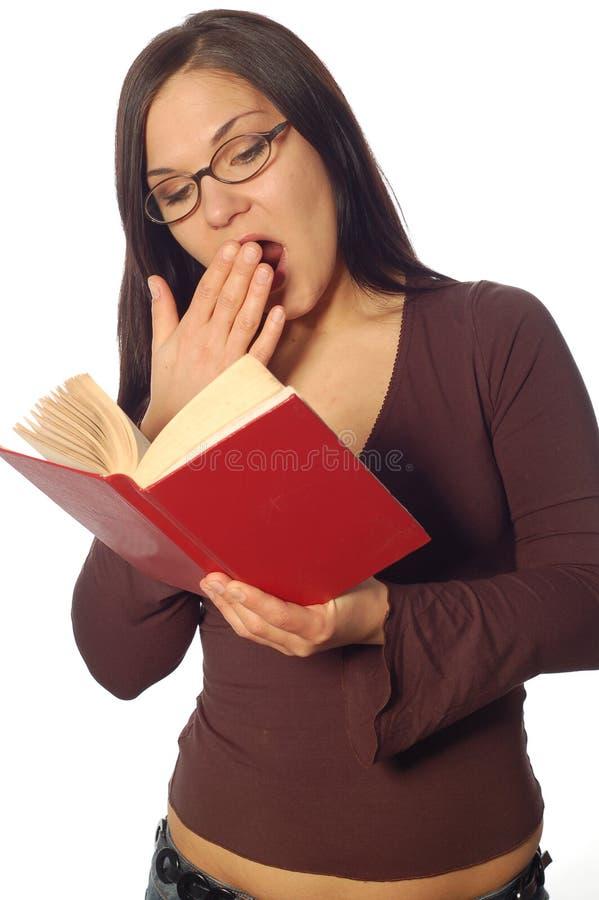 γυναίκα βιβλίων στοκ εικόνες