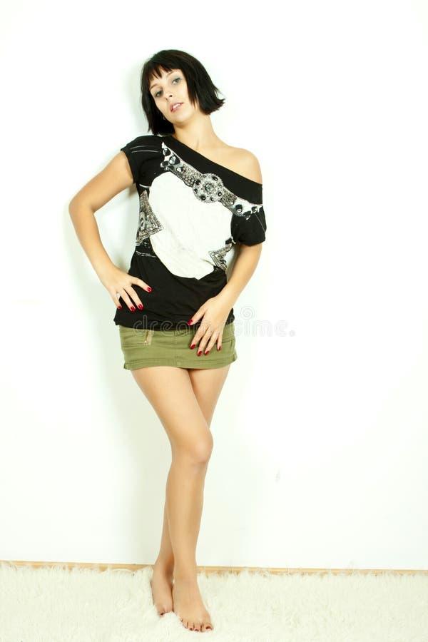 γυναίκα βράχου μόδας στοκ φωτογραφία με δικαίωμα ελεύθερης χρήσης