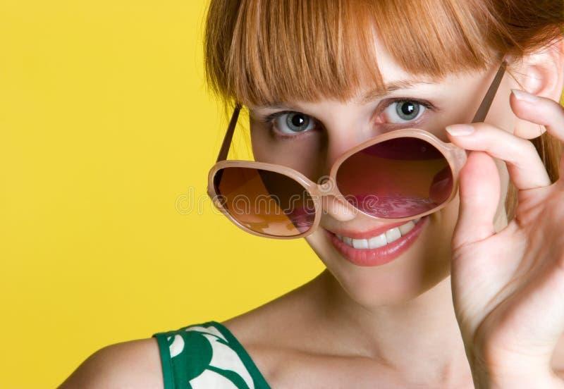 γυναίκα γυαλιών στοκ εικόνες