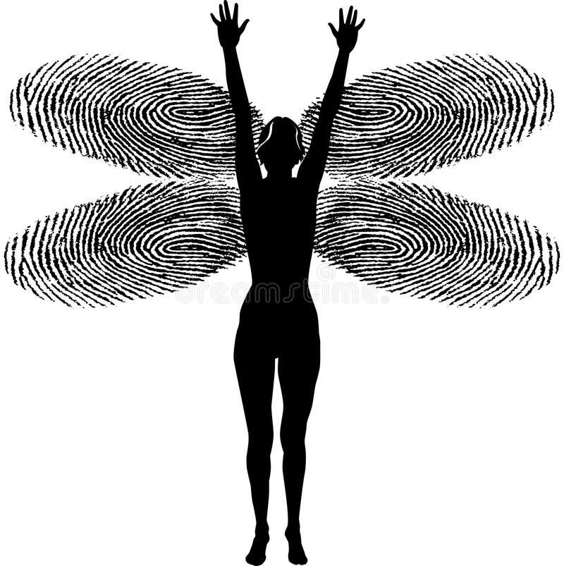 γυναίκα δακτυλικών αποτ απεικόνιση αποθεμάτων