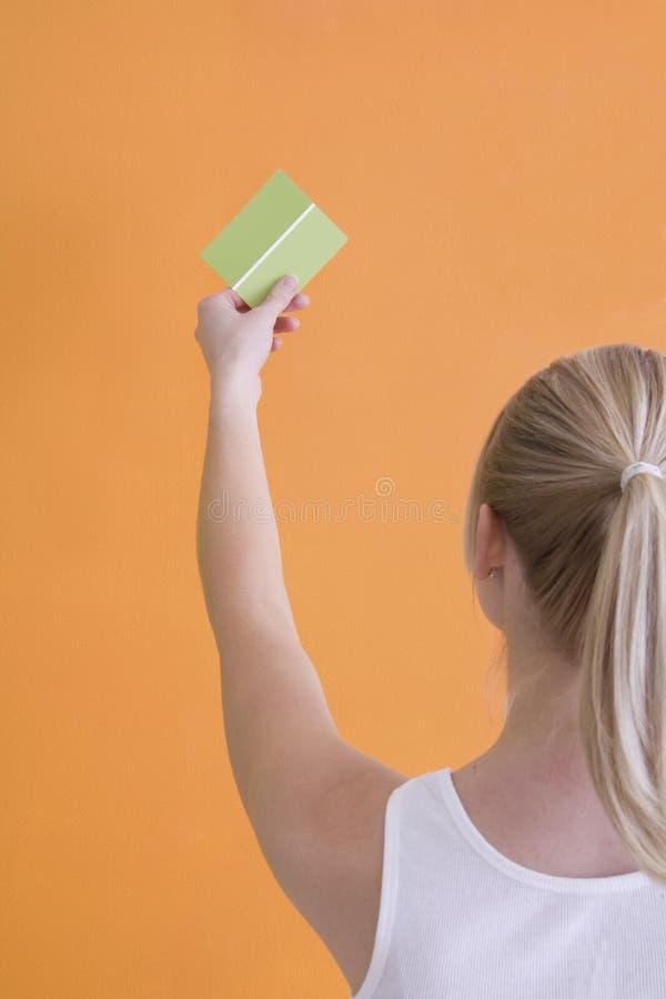 γυναίκα δειγμάτων χρωμάτω&n στοκ εικόνες