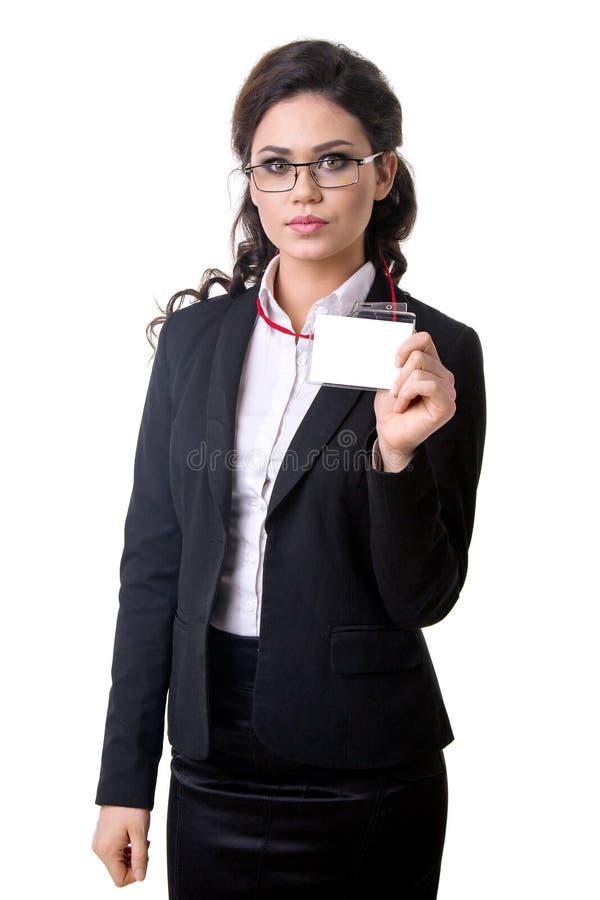 Γυναίκα διακριτικών και επιχειρήσεων στοκ φωτογραφίες