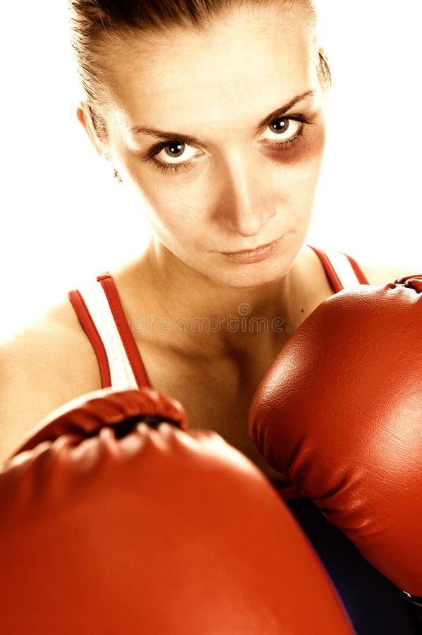 γυναίκα εικόνων μπόξερ στοκ φωτογραφία με δικαίωμα ελεύθερης χρήσης