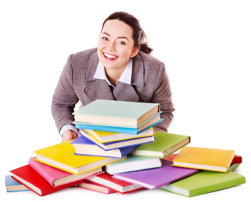 γυναίκα εκμετάλλευσης βιβλίων στοκ φωτογραφία