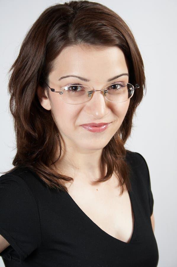 γυναίκα επιχειρησιακών γυαλιών Στοκ Εικόνες