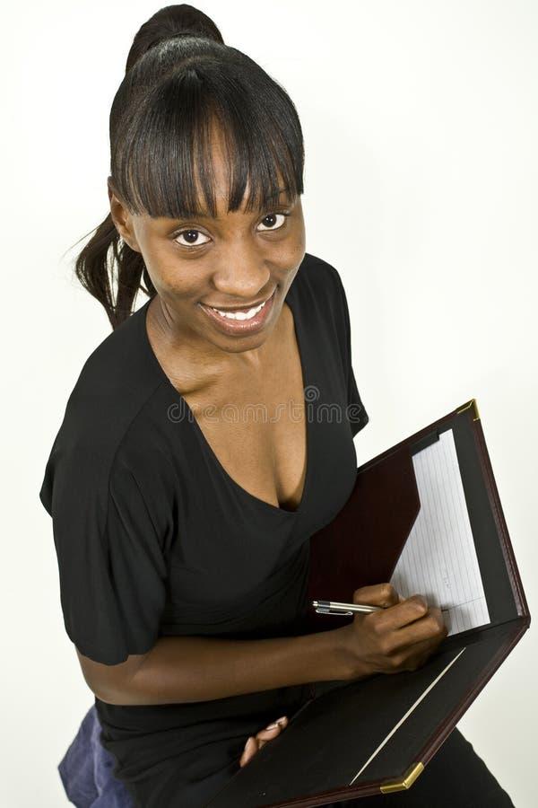 γυναίκα επιχειρησιακών σπουδαστών αφροαμερικάνων στοκ φωτογραφίες