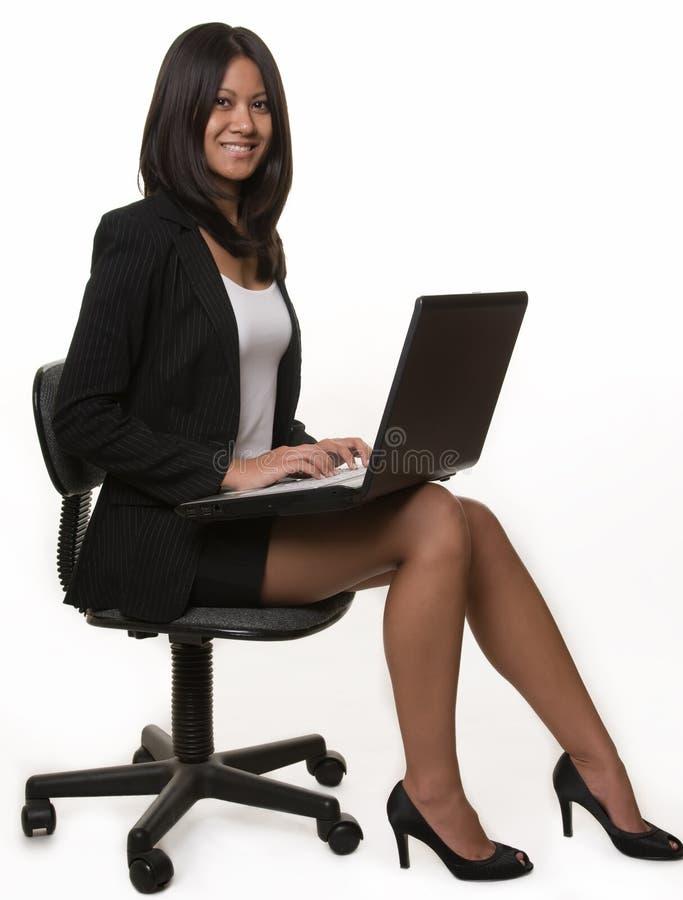 γυναίκα επιχειρησιακών lap-top στοκ φωτογραφία με δικαίωμα ελεύθερης χρήσης