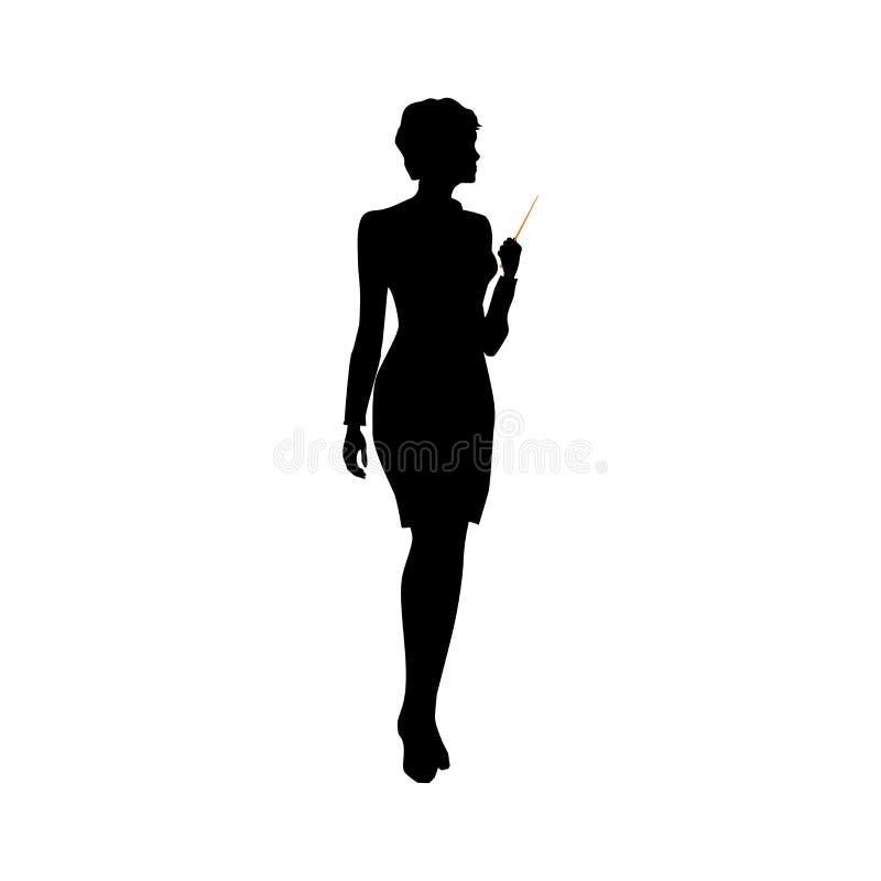 γυναίκα επιχειρησιακών &sigm διανυσματική απεικόνιση