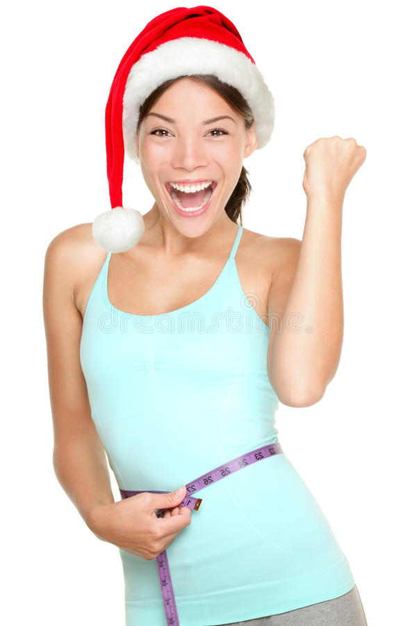 Γυναίκα ικανότητας Χριστουγέννων στοκ φωτογραφία