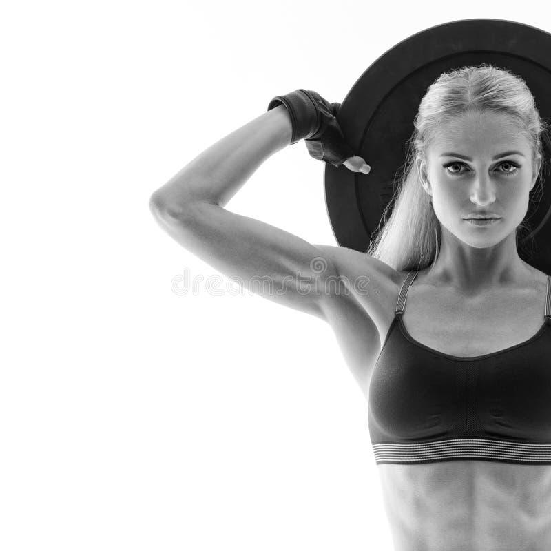 Γυναίκα ικανότητας workout στοκ φωτογραφίες με δικαίωμα ελεύθερης χρήσης