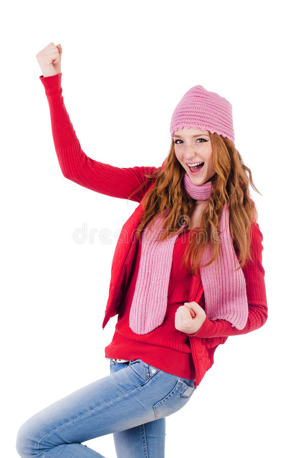 Γυναίκα ιματισμό που απομονώνεται στο θερμό στοκ εικόνα με δικαίωμα ελεύθερης χρήσης