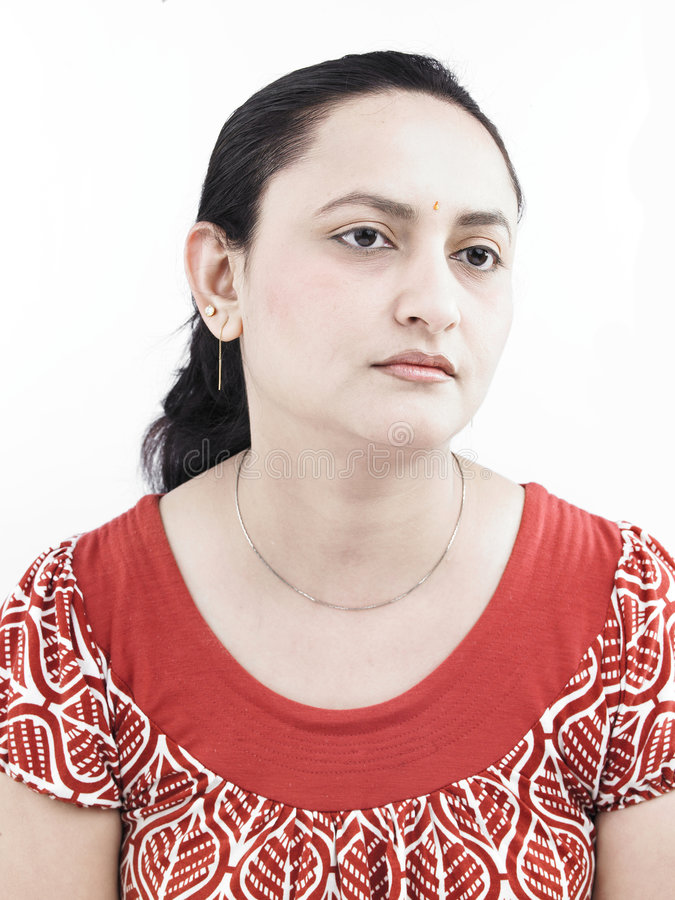 γυναίκα ινδικής προέλευσης λυπημένη στοκ φωτογραφία με δικαίωμα ελεύθερης χρήσης
