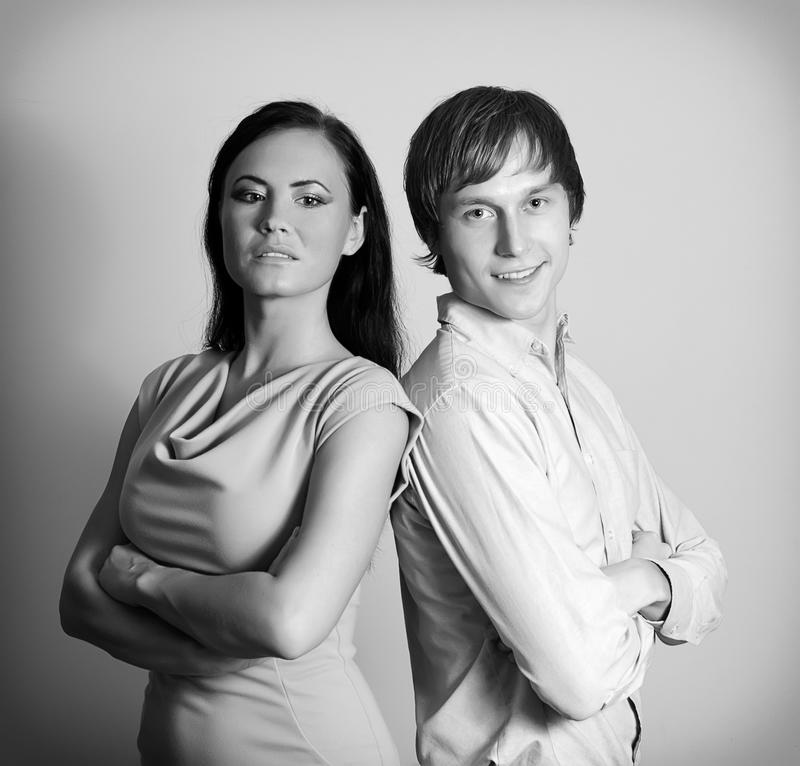 Γυναίκα και άνδρας. στοκ εικόνες