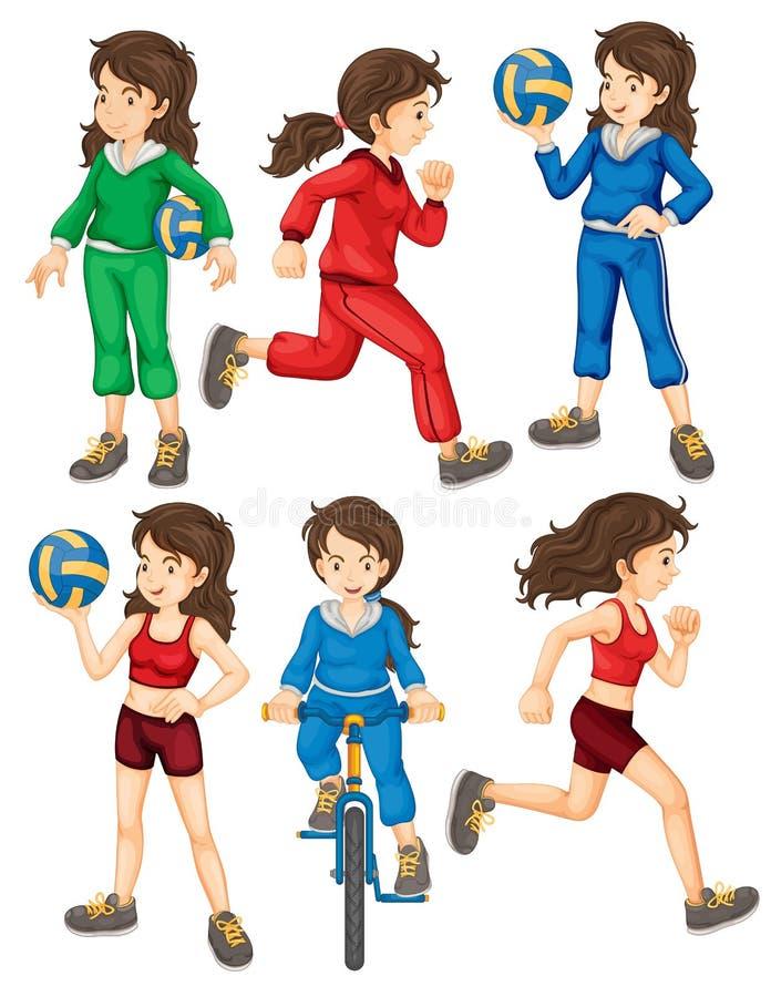 Γυναίκα και αθλητισμός ελεύθερη απεικόνιση δικαιώματος