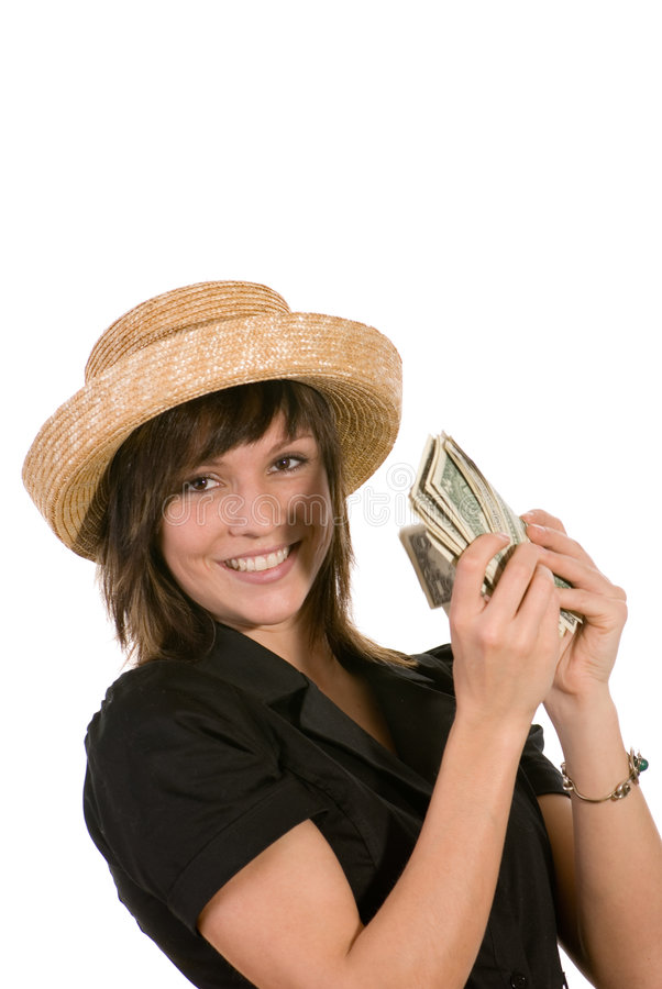 γυναίκα καπέλων στοκ φωτογραφίες με δικαίωμα ελεύθερης χρήσης