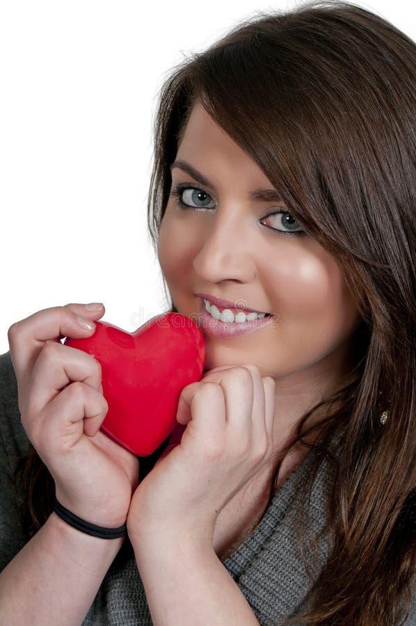 Γυναίκα καρδιών ημέρας βαλεντίνων στοκ εικόνα με δικαίωμα ελεύθερης χρήσης