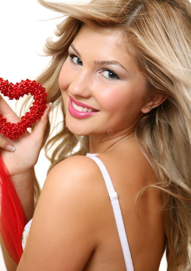 γυναίκα καρδιών στοκ φωτογραφίες με δικαίωμα ελεύθερης χρήσης