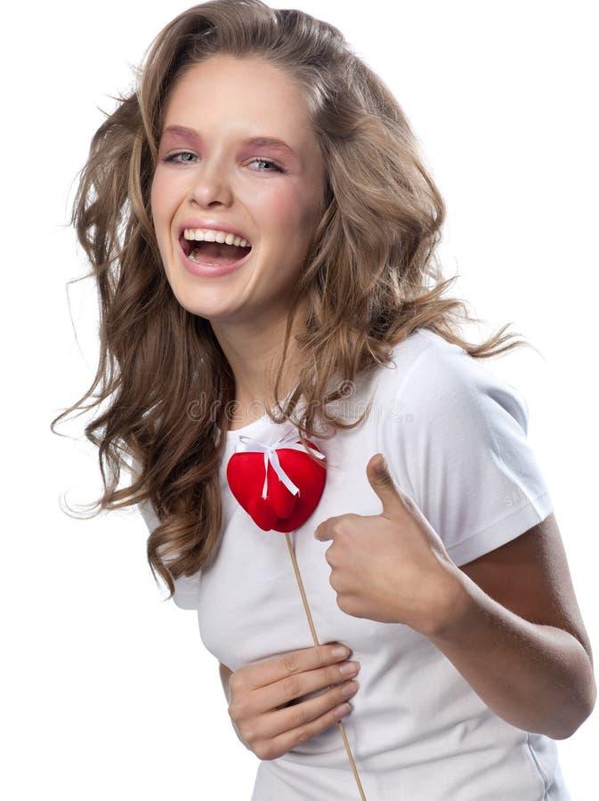 γυναίκα καρδιών στοκ φωτογραφία