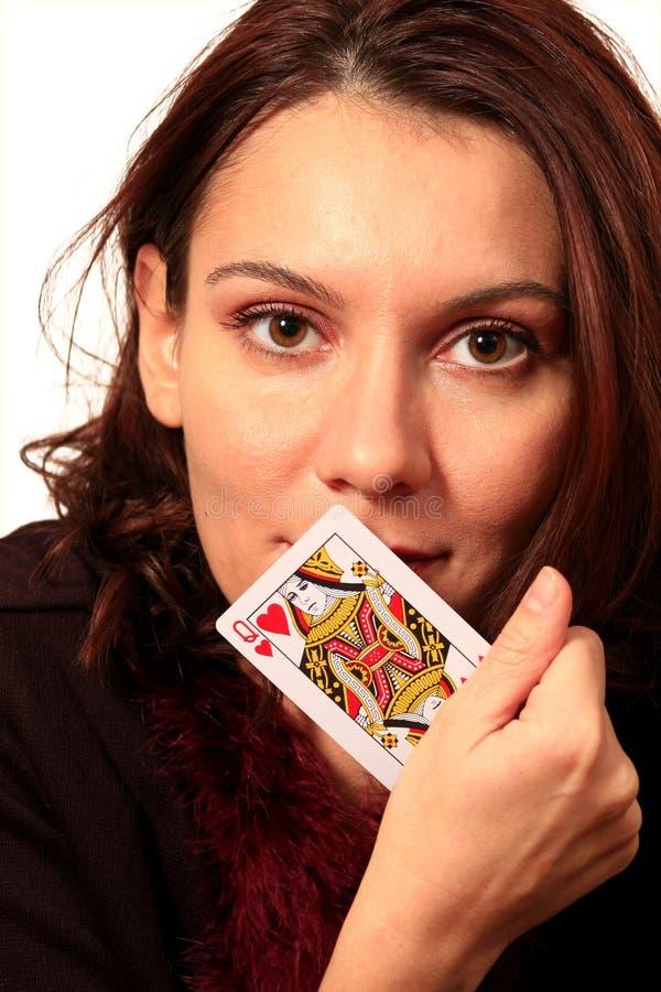 Γυναίκα καρτών κυρίας στοκ φωτογραφίες με δικαίωμα ελεύθερης χρήσης