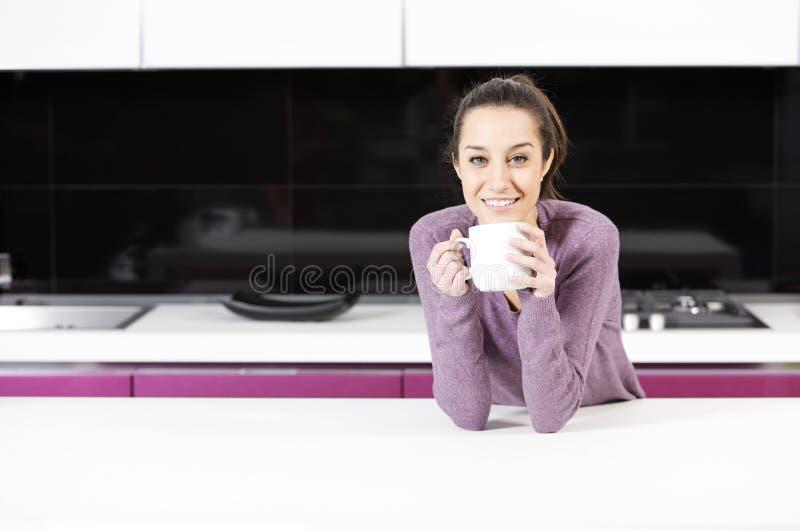 γυναίκα καφέ στοκ φωτογραφία