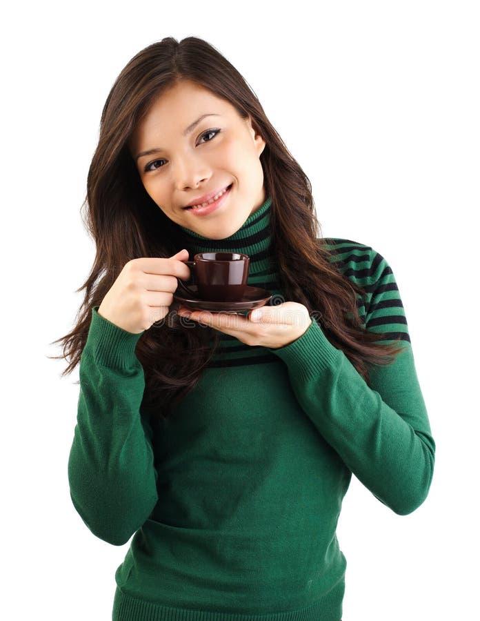 γυναίκα καφέ στοκ εικόνες με δικαίωμα ελεύθερης χρήσης