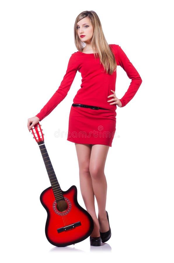 Γυναίκα κιθαριστών Στοκ Εικόνα
