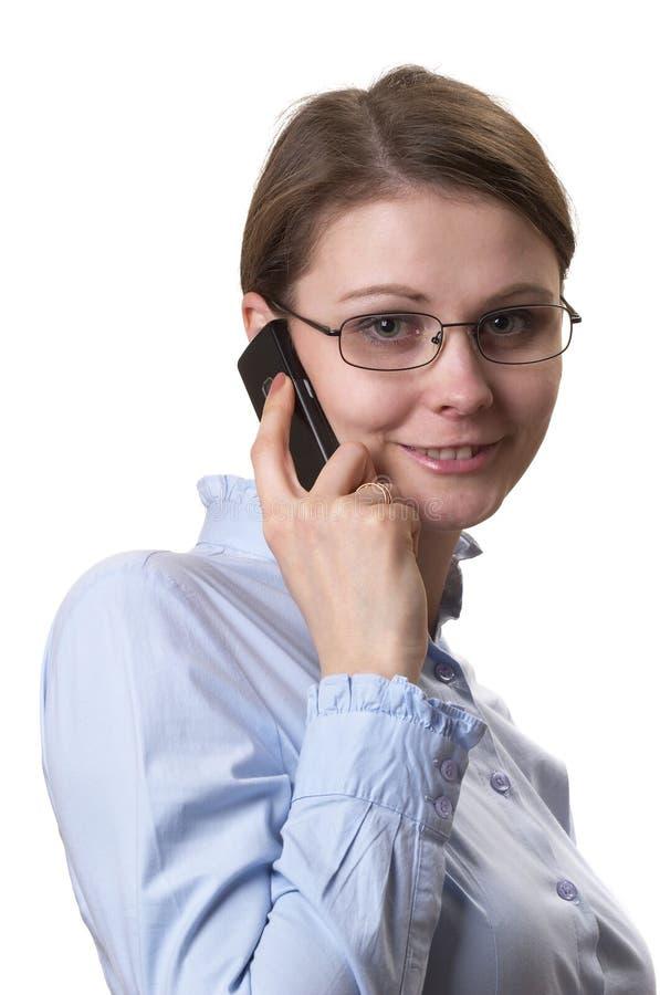 γυναίκα κλήσης στοκ εικόνα
