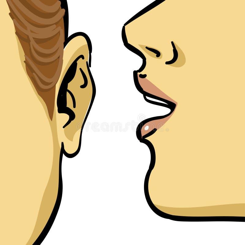 γυναίκα κουτσομπολιού ελεύθερη απεικόνιση δικαιώματος