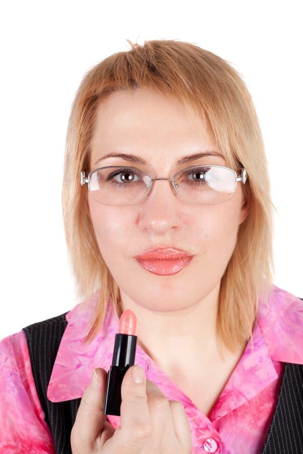 γυναίκα κραγιόν στοκ εικόνες