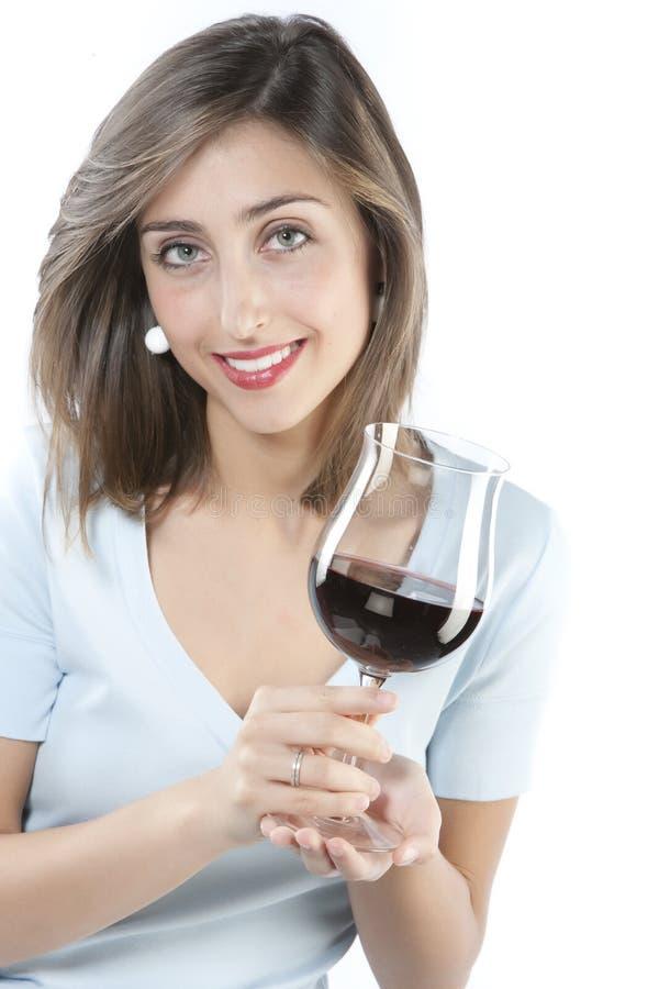 γυναίκα κόκκινου κρασιού γυαλιού στοκ εικόνες με δικαίωμα ελεύθερης χρήσης