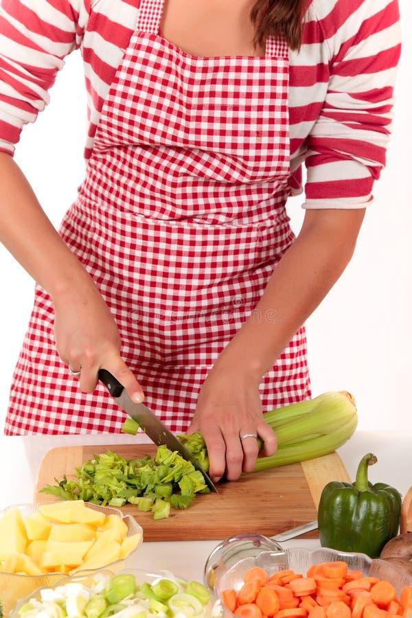 γυναίκα λαχανικών σέλινο&u στοκ εικόνα με δικαίωμα ελεύθερης χρήσης