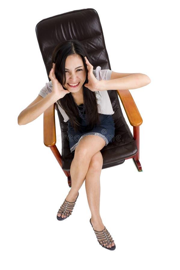 γυναίκα λικνίσματος εδ&rho στοκ φωτογραφία με δικαίωμα ελεύθερης χρήσης
