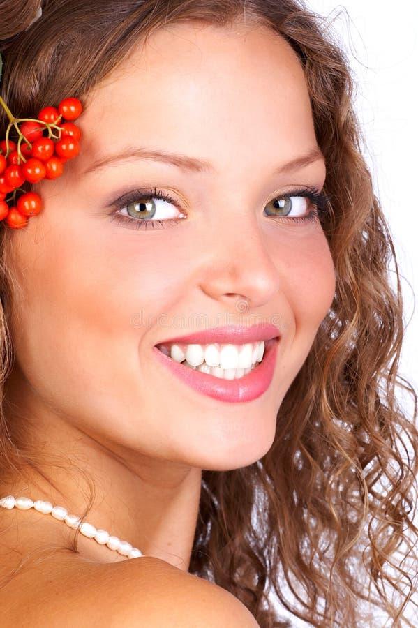γυναίκα λουλουδιών στοκ εικόνα