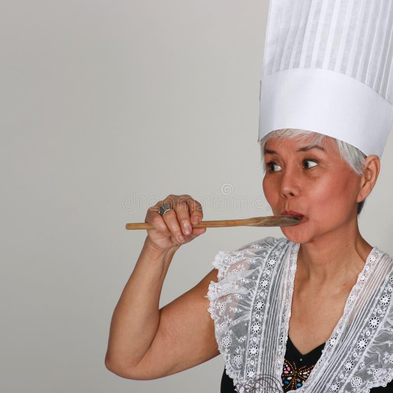 γυναίκα μαγείρων στοκ φωτογραφίες
