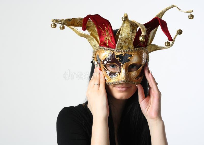γυναίκα μασκών στοκ φωτογραφία